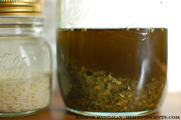 Toasted Basmati rice tincture and Maté tea tincture