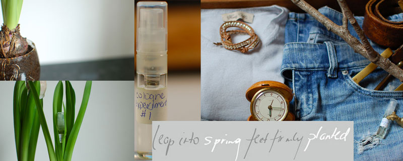my first mood board for perfume compositions